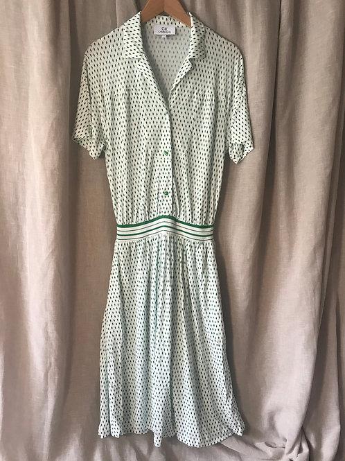 Calvin Klein Green Printed Dress (Size M)