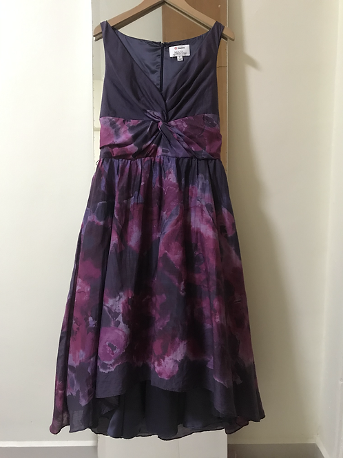 Lela Rose Purple Midi Dress (Size M)