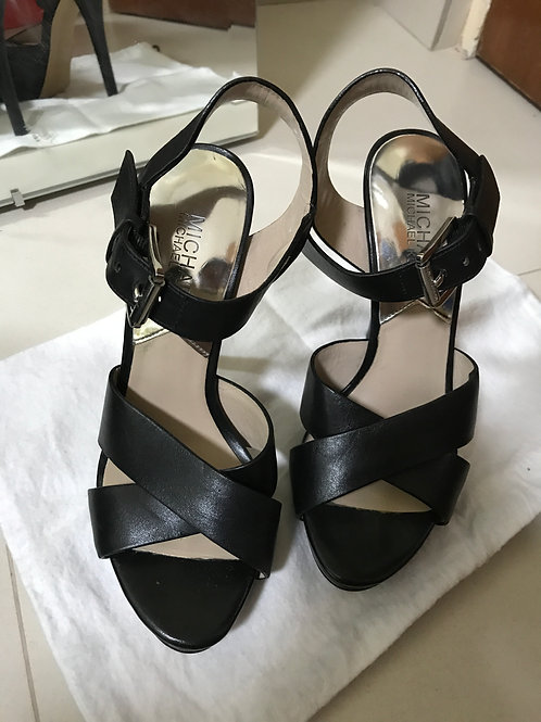 Michael Kors Black Strappy Heels (Size 36)