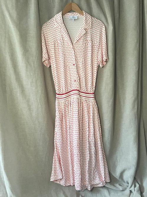 Calvin Klein Red Printed Dress (Size M)