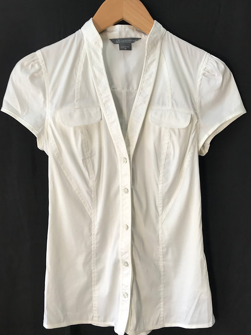 Armani Xchange White Fitted Blouse (Size XS)