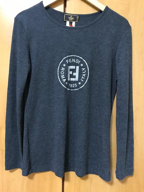 Fendi Printed Long Sleeve T-Shirt (Size M)