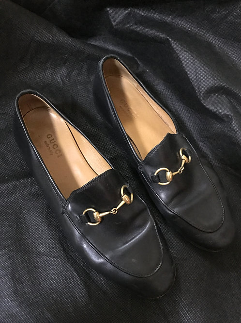 Gucci Black Horsebit Loafers (Size 36.5)