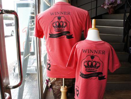 ジュニアバトミントンチーム WINNER様のチームTシャツ