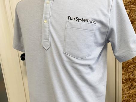 ファンシステム様のポロシャツ