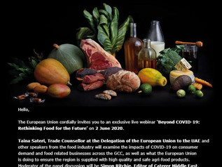 live webinar 'Beyond COVID-19: Rethinking Food for the Future' on 2 June 2020.