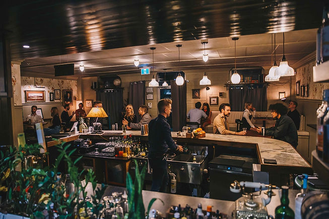 Confluence Distilling tasting room cocktail lounge. Best Calgary cocktails with premium gin and vodka.