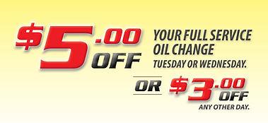 $5 OFF Full Service Oil Change  | Super Lube Auto Centres