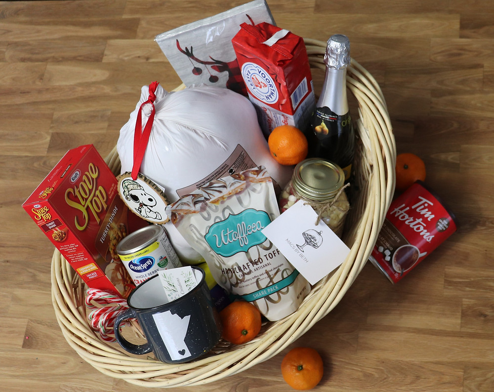Super Lube Christmas basket filled with local products