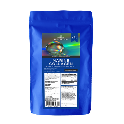 MARINE COLLAGEN SUPPLEMENT WITH VITAMIN B3 AND C