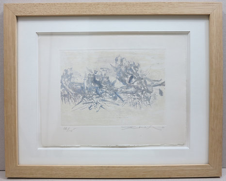 Zao Wou-Ki. Etching with aquatint. 1962. Signed and numbered.