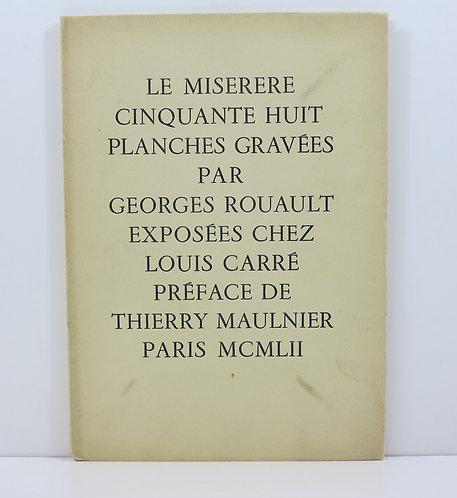Le miserere. Goerges Rouault. Louis Carré. 1952.