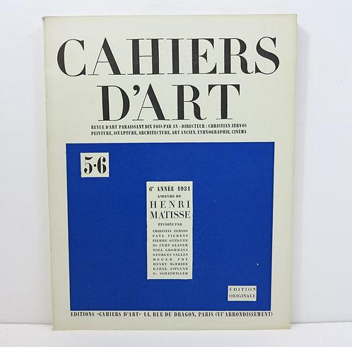 Cahiers d'Art 1931. 5-6. Henri Matisse.