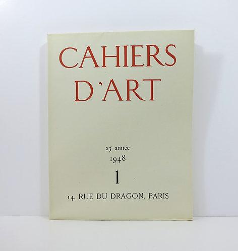 Cahiers d'Art. 1948. Volume I. Picasso's ceramics.