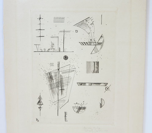 Kandinsky. Etching for Cahiers d'Art. Signed. 1930.