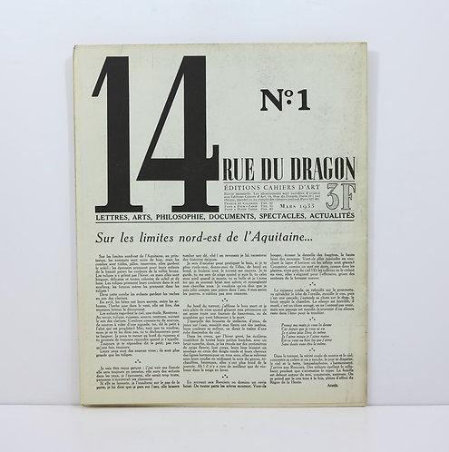 Revue 14 Rue du Dragon. Number 1. March 1933.
