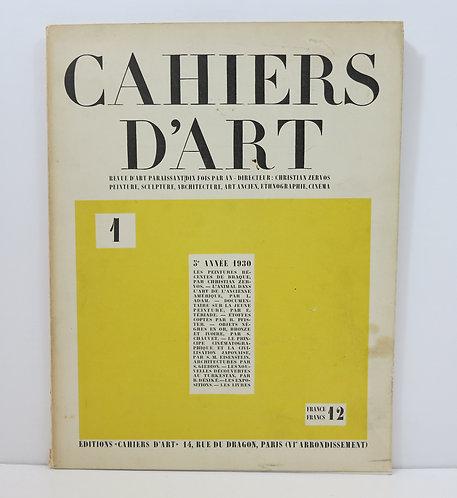 Cahiers d'Art. 1930. Numéro I.