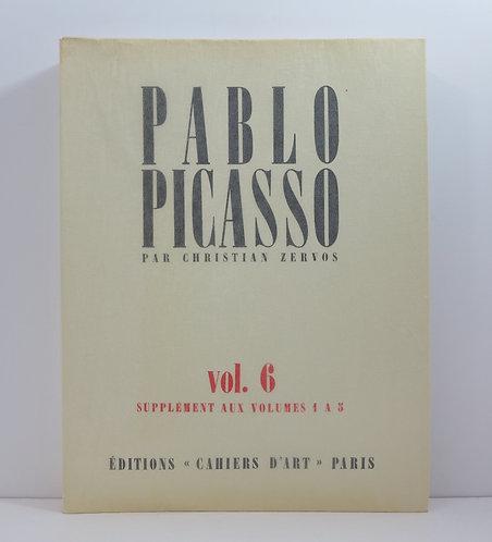 Picasso. By C.Zervos. Vol.6. Cahiers d'Art. Catalogue Raisonné. 1983.