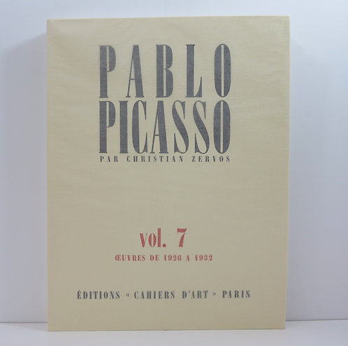 Picasso. By C.Zervos. Vol.7. Cahiers d'Art. Catalogue Raisonné. 1982.