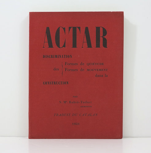 Actar. Discrimination dans la construction. 1931.