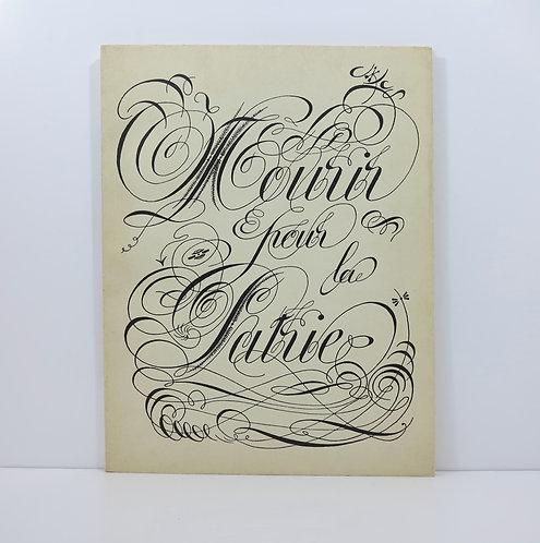 Marcel Jean. Mourir pour la Patrie. Cahiers d'Art. 1935.