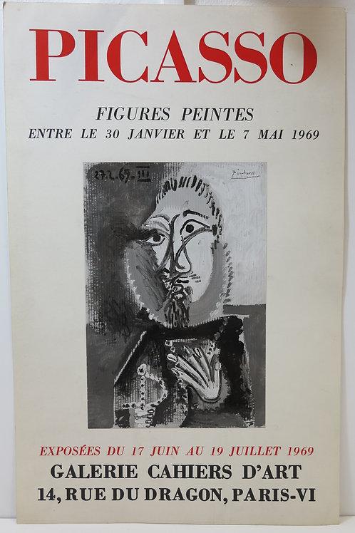 Affiche Picasso, figures peintes, 1969