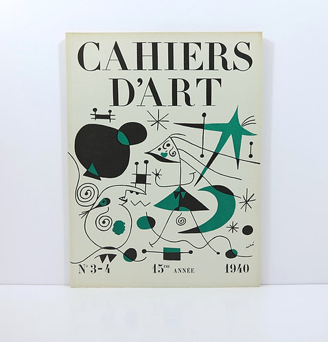 Cahiers d'Art. Year 1940. Number 3-4.