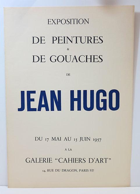 Affiche de l'exposition de peintures et de gouaches de Jean Hugo, 1957
