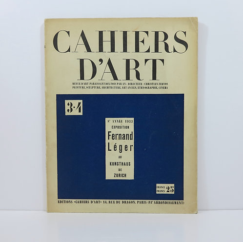 Cahiers d'Art. 1933. Number 3-4.