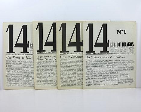 Revue. 14 RUE DU DRAGON. From Mars 1933 to Mai 1933.