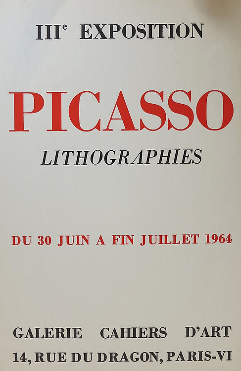 """Affiche """"III ème exposition Picasso, Lithographies"""", 1964"""