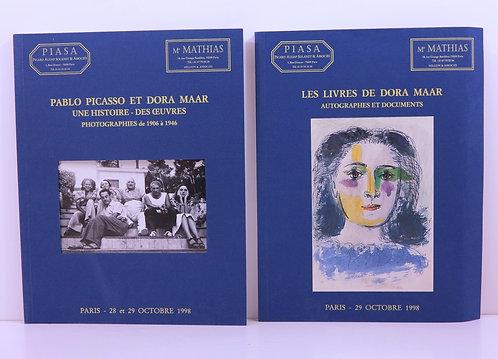 Picasso / Dora Maar. Auction catalogues. Piasa. 1998.