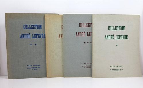 Collection André Lefevre. Palais Galliera. 1964-1967. 4 catalogues.