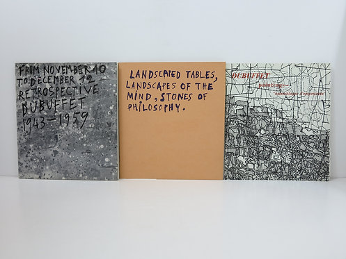 Jean Dubuffet. Lot of 3 catalogues. Pierre Matisse gallery