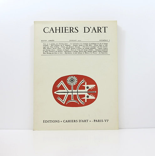 Cahiers d'Art. Year 27. 1952. Number I.