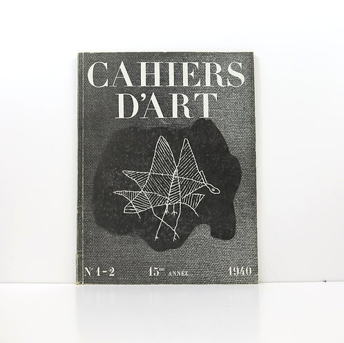 Cahiers d'Art. Year 15. 1940. Number 1-2.