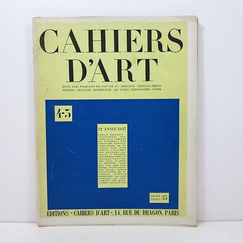 "Miro. Cahiers d'Art. Number 4-5. Year 1937. ""Aidez l'Espagne"" stencil."