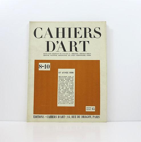 Cahiers d'Art. Year 11. 1936. 8-10.