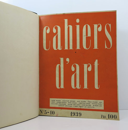 Cahiers d'Art. 1939. Number 5-10. Hardcover.