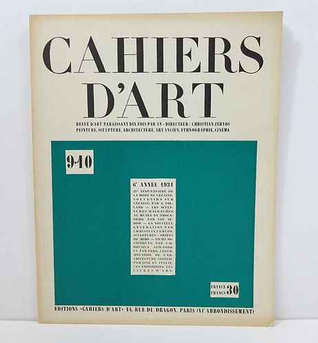 Revue Cahiers D'art- N° 9-10 - 1931