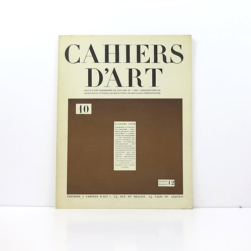 Cahiers d'Art. Year 4. 1929. Number 10.