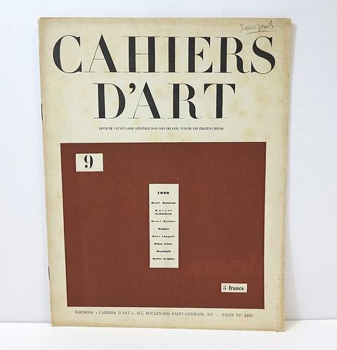 Revue Cahiers d'Art. 1926. Numéro 9