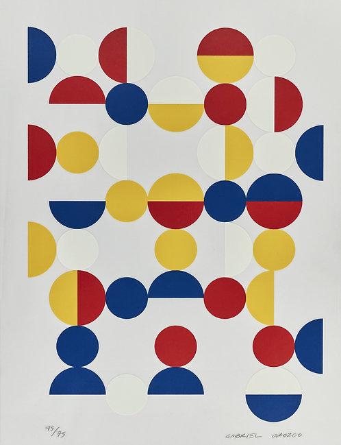 Gabriel Orozco(1962-)  Untitled, 2017. Signed.