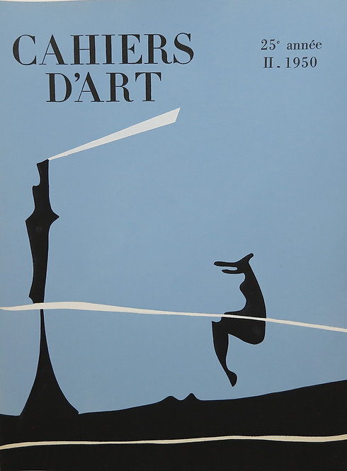 Yves Tanguy. Cover for Cahiers d'Art, 1950. Stencil.