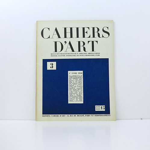 Cahiers d'Art. Year 5. 1930. Number 3.