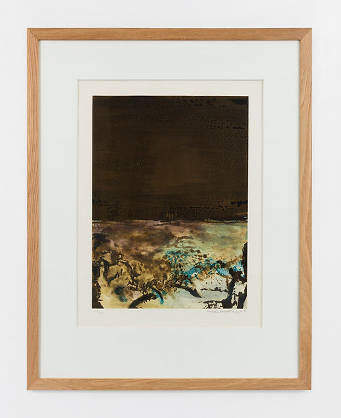 Zao Wou-Ki. Etching with aquatint. 1986. Signed and numbered.