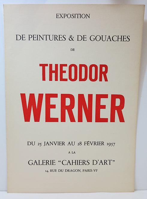 Affiche de l'exposition de peintures et de gouaches de Theodor Werner, 1957