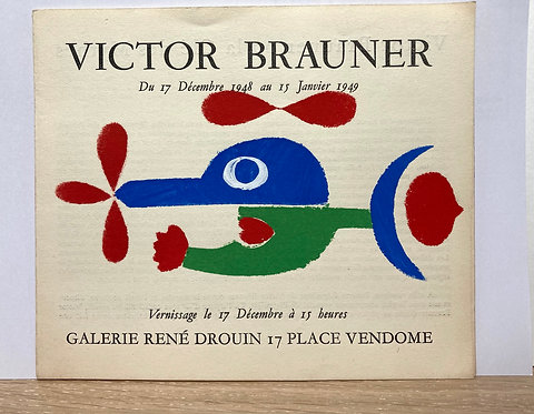 Victor Brauner. Galerie René Drouin, 1948. Pochoir.