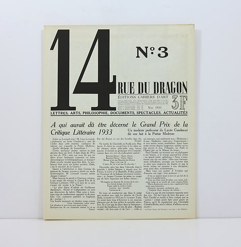 Revue 14 Rue du Dragon. Number 3. Mai 1933.