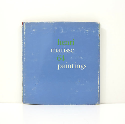 Henri Matisse. 64 paintings. By Lawrence Gowing. 1966.